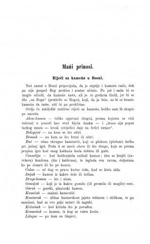 Riječi za kameńe u Bosni / I. Zovko