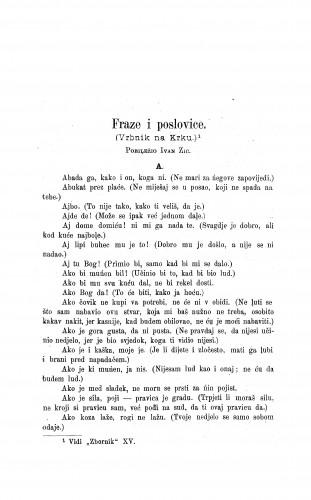 Fraze i poslovice : (Vrbnik na Krku) / I. Žic