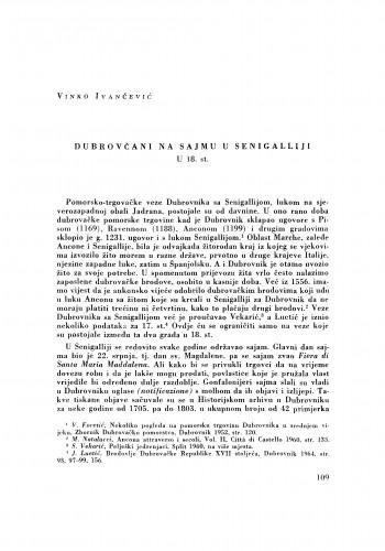 Dubrovčani na sajmu u Senigalliji u 18. st.