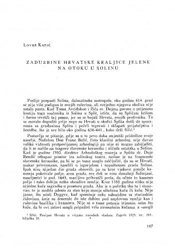 Zadužbine hrvatske kraljice Jelene na Otoku u Solinu
