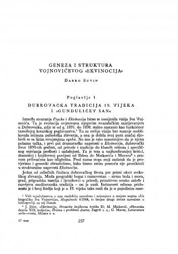 Geneza i struktura Vojnovićevog