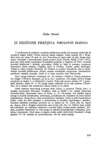 Iz Hidžina prepjeva Tibulovih elegija / Željko Puratić