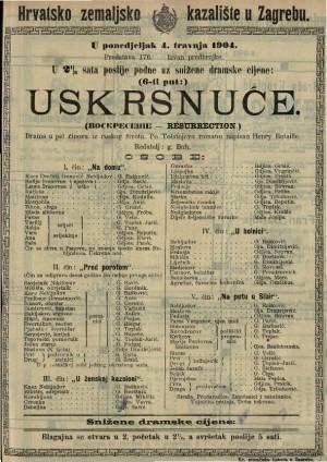 Uskrsnuće drama u pet činova iz ruskog života / po Tolstojevu romanu napisao Henry Bataille