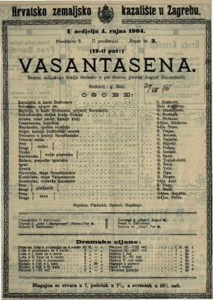 Vasantasena drama indijskoga kralja Sudrake u pet činova / Sudraka