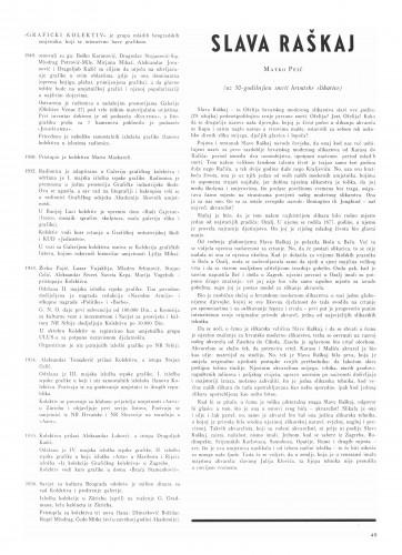 Slava Raškaj : Bulletin Instituta za likovne umjetnosti Jugoslavenske akademije znanosti i umjetnosti