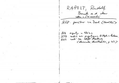 Rapolt Rudolf Bruck a. d. Mur ; rođen u Švicarskoj