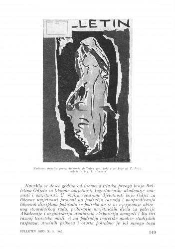Deset godina Bulletina : Bulletin Zavoda za likovne umjetnosti Jugoslavenske akademije znanosti i umjetnosti