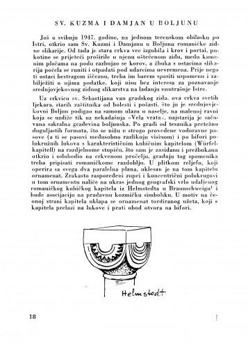 Sv. Kuzma i Damjan u Boljunu : Bulletin Zavoda za likovne umjetnosti Jugoslavenske akademije znanosti i umjetnosti