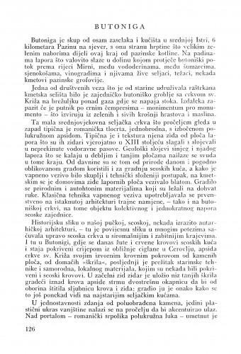 Butoniga : Bulletin Odjela VII. za likovne umjetnosti Jugoslavenske akademije znanosti i umjetnosti
