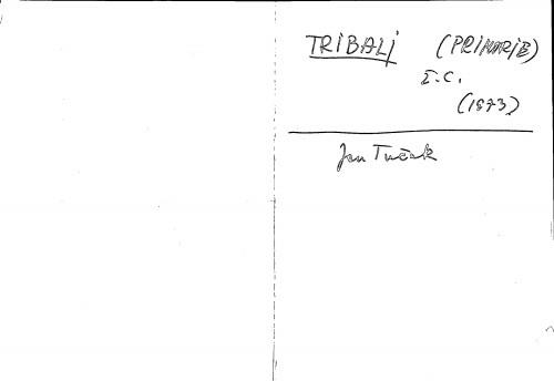 Tribalj (Primorje) ž. c.