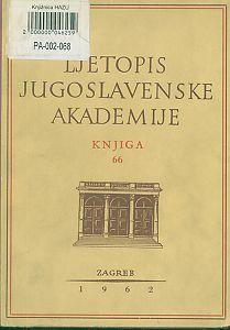 Za godinu 1959. Knj. 66 : Ljetopis