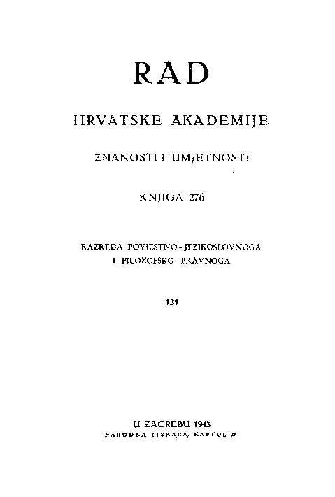 Knj. 125 (1943) : RAD