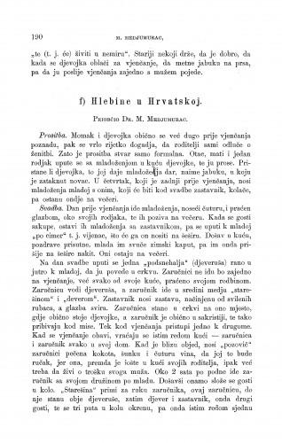 Hlebine u Hrvatskoj : ženidbeni običaji : Zbornik za narodni život i običaje