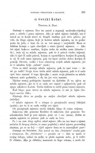Gorski Kotar : gatanje o prirodnim pojavama, o životinjama, o bilinama, o vremenu i u raznim prigodama života : Zbornik za narodni život i običaje