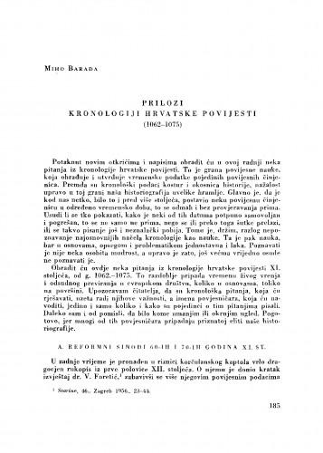 Prilozi kronologiji hrvatske povijesti