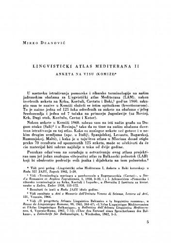 Lingvistički atlas Mediterana II