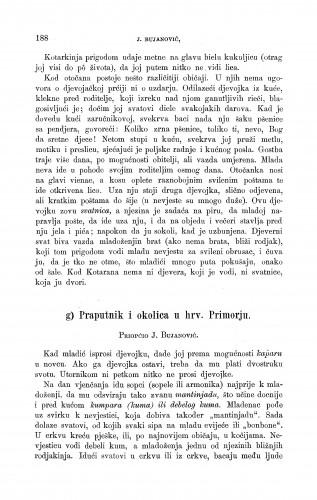 Praputnik i okolica u hrv. Primorju : ženidbeni običaji : Zbornik za narodni život i običaje