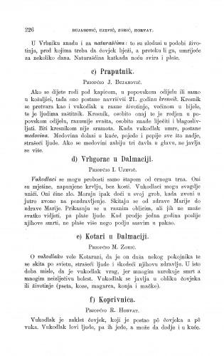 Kotari u Dalmaciji ; Koprivnica ; Vrhgorac u Dalmaciji ; Praputnik : vukodlak i krsnik : Zbornik za narodni život i običaje