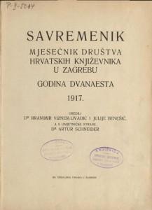Savremenik : mjesečnik Društva hrvatskih književnika u Zagrebu : Hemeroteka i katalozi Strossmayerove galerije