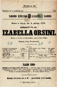 Izabela Orsini drama u 4 čina / od Mosenthala