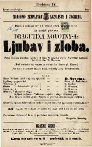 Ljubav i zloba prva izvorna narodna opera u 2 čina / u muziku stavio Vatroslav Lisinski