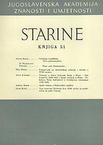 Knj. 51(1962) : Starine