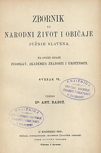 Knj. 6. (1901) : Zbornik za narodni život i običaje