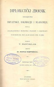 Sv. 14: Listine godina : 1367-1373 : Diplomatički zbornik Kraljevine Hrvatske, Dalmacije i Slavonije
