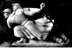 Figuralna grupa za Spomenik palim Šumadincima - model u atelijeru