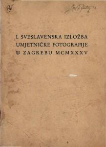 I. sveslavenska izložba umjetničke fotografije u Zagrebu MCMXXXV