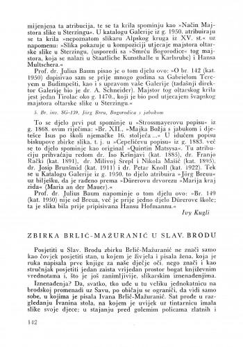 Zbirka Brlić-Mažuranić u Slavonskom Brodu : Bulletin Instituta za likovne umjetnosti Jugoslavenske akademije znanosti i umjetnosti