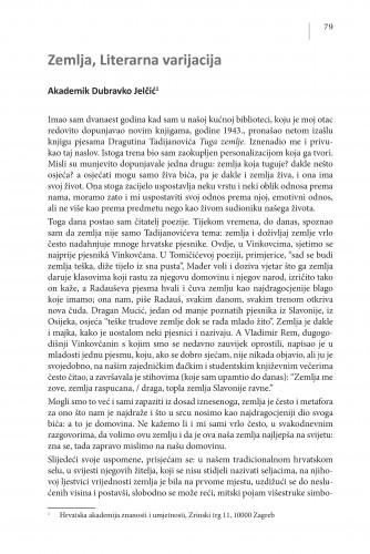 Zemlja, Literarna varijacija : Posebna izdanja / Hrvatska akademija znanosti i umjetnosti, Centar za znanstveni rad u Vinkovcima