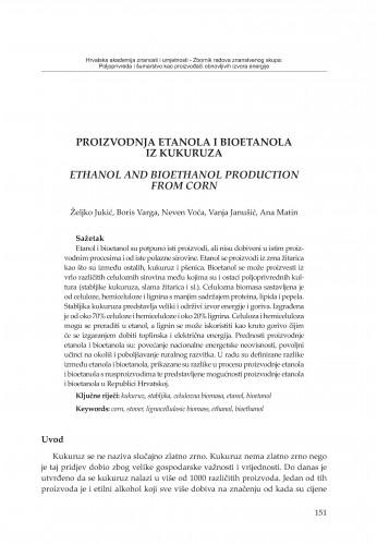 Proizvodnja etanola i bioetanola iz kukuruza
