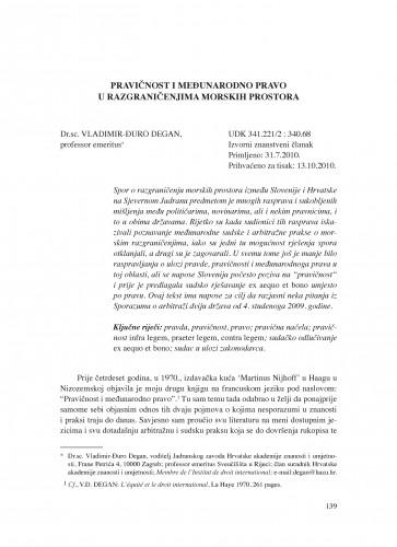 Pravičnost i međunarodno pravo u razgraničenjima morskih prostora : Poredbeno pomorsko pravo