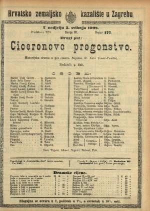 Ciceronovo progonstvo Historijska drama u pet činova