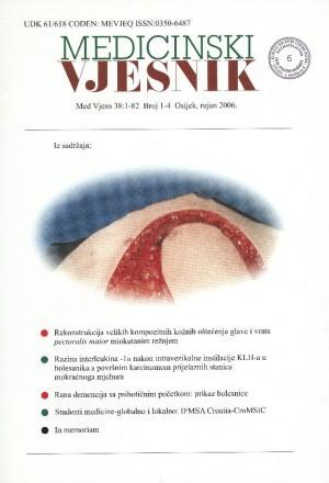 38, br. 1-4(2006) : Medicinski vjesnik