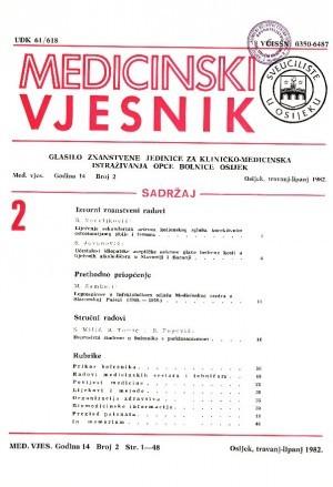 God. 14, br. 2(1982) : Medicinski vjesnik