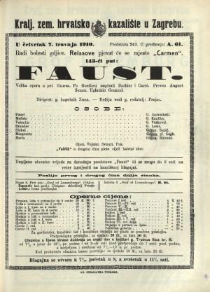 Faust : Velika opera u 5 činova