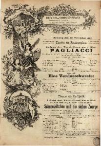 Pagliacci : Musik-Drama in zwei Acten und einem Prologe / Dichtung und Musik von R. Leoncavallo