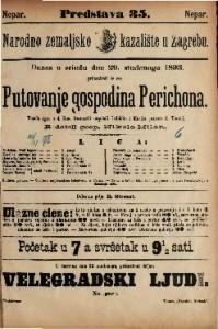 Putovanje gospodina Perichona Vesela igra u 4 čina / francezki napisali Labiche i Martin