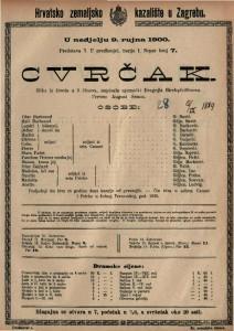 Cvrčak slika iz života u 5 činova / napisala njemački Dragojla Birchpfeifferova