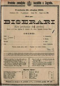 Biserari : opera u tri čina / uglazbio Georges Bizet