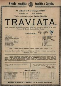 Traviata opera u tri čina / glazba od Verdia