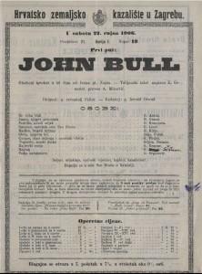 John Bull glazbeni igrokaz u tri čina / od Ivana pl. Zajca