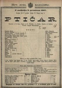 Ptičar opereta u tri čina / glazba od Zellera