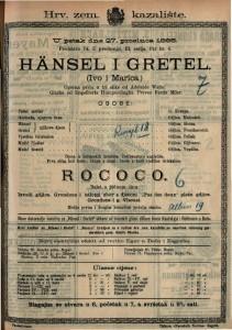 HÄNSEL I GRETEL /Ivo i Marica/ Operna priča u tri slike