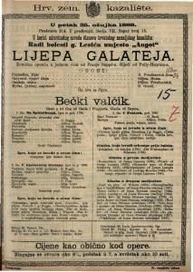 Lijepa Galateja Komična opereta u jednom činu / od Franje Suppé-a