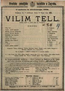 Wilim Tell Velika opera u četiri čina / od Rossini-a