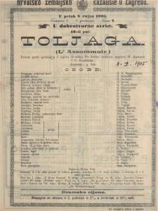 Toljaga pariski pučki igrokaz u 5 činova (9 slika) / po Zolinu romanu napisali W. Busnach i O. Gastineau