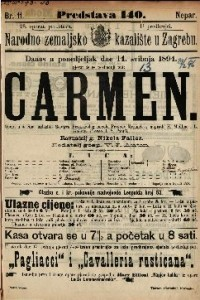 Carmen Opera u 4 čina / uglazbio Georges Bizet